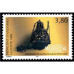 [24] 1996 French Andorra Sc  Santa Eulalia  ** MNH Very Nice  (Scott)