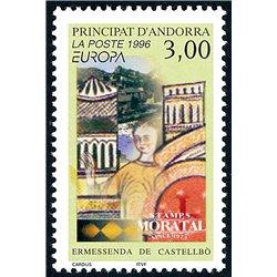 [24] 1996 French Andorra Sc  Europe CEPT  ** MNH Very Nice  (Scott)