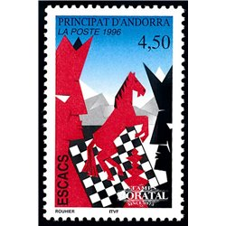 [24] 1996 French Andorra Sc  Chess  ** MNH Very Nice  (Scott)