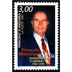 [24] 1997 French Andorra Sc  François Mitterrand  ** MNH Very Nice  (Scott)