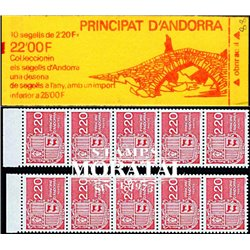[24] 1988 French Andorra Sc  Andorra coat of arms  ** MNH Very Nice  (Scott)