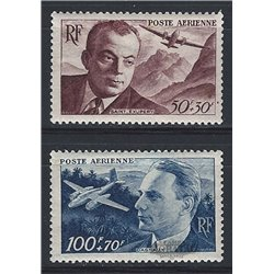 1947 France  Sc# CB1/CB2  ** MNH Very Nice. Saint-Exupéry and Dagnaux (Scott)