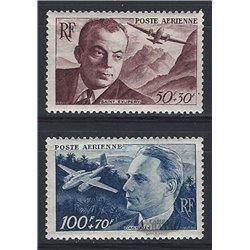 1947 France  Sc# CB1/CB2  * MH Nice. Saint-Exupéry and Dagnaux (Scott)