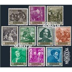 1959 Spain  Sc 893/902 Velazquez Painting **MNH Very Nice, Mint Hever Hinged?  (Scott)