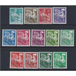 1953 France  Sc# 707/710, 840/844, 910/913  * MH Nice. 0 (Scott)