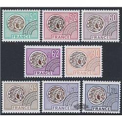1976 France  Sc# 1460/1463, 1487/1490  * MH Nice. 0 (Scott)