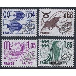 1977 France  Sc# 1522, 1525, 1528, 1531  * MH Nice. 0 (Scott)