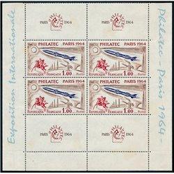 1964 France  Sc# 1100 Sheets x2  ** MNH Very Nice. Exposition Philatec 1964 (Scott)
