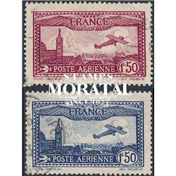 1930 France  Sc# C5/C6  (o) Used, Nice. 0 (Scott)