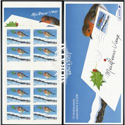 "2003 France  Sc# 0  ** MNH Very Nice. ""Best Wishes"", European Robin (Scott)"
