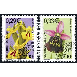 2002 France  Sc# 2865/2866  (o) Used, Nice. Flowers.- Orchids (Scott)